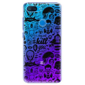 Plastové pouzdro iSaprio - Comics 01 - black - Xiaomi Mi 8 Lite