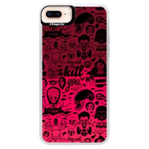 Neonové pouzdro Pink iSaprio - Comics 01 - black - iPhone 8 Plus