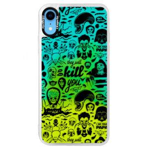 Neonové pouzdro Blue iSaprio - Comics 01 - black - iPhone XR