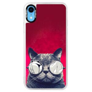 Neonové pouzdro Pink iSaprio - Crazy Cat 01 - iPhone XR