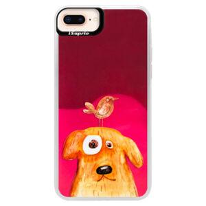 Neonové pouzdro Pink iSaprio - Dog And Bird - iPhone 8 Plus