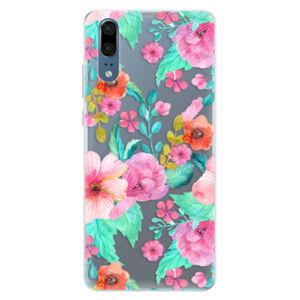 Silikonové pouzdro iSaprio - Flower Pattern 01 - Huawei P20