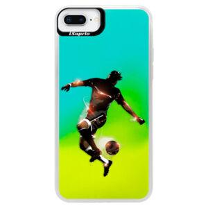 Neonové pouzdro Blue iSaprio - Fotball 01 - iPhone 8 Plus