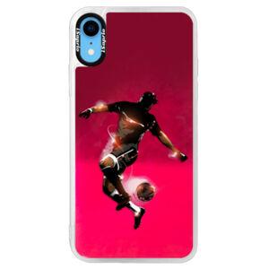 Neonové pouzdro Pink iSaprio - Fotball 01 - iPhone XR