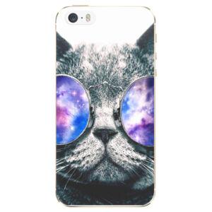 Odolné silikonové pouzdro iSaprio - Galaxy Cat - iPhone 5/5S/SE