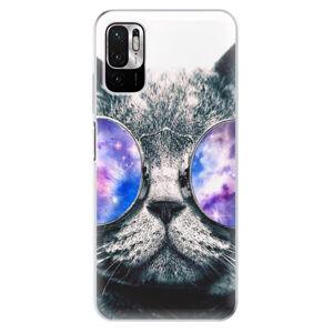 Odolné silikonové pouzdro iSaprio - Galaxy Cat - Xiaomi Redmi Note 10 5G
