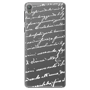 Plastové pouzdro iSaprio - Handwriting 01 - white - Sony Xperia E5