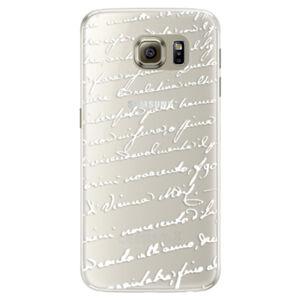 Silikonové pouzdro iSaprio - Handwriting 01 - white - Samsung Galaxy S6