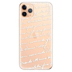 Odolné silikonové pouzdro iSaprio - Handwriting 01 - white - iPhone 11 Pro Max