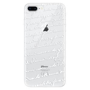 Odolné silikonové pouzdro iSaprio - Handwriting 01 - white - iPhone 8 Plus
