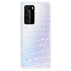 Odolné silikonové pouzdro iSaprio - Handwriting 01 - white - Huawei P40 Pro