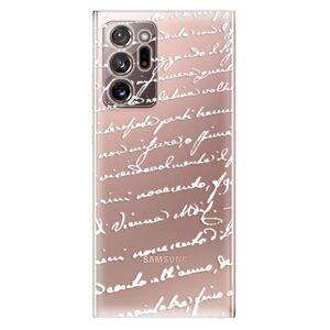 Odolné silikonové pouzdro iSaprio - Handwriting 01 - white - Samsung Galaxy Note 20 Ultra