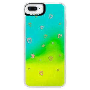 Neonové pouzdro Blue iSaprio - Lovely Pattern - iPhone 8 Plus