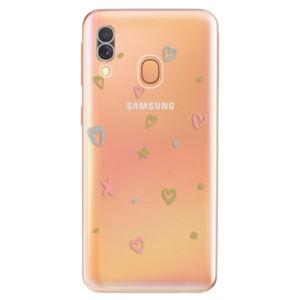 Odolné silikonové pouzdro iSaprio - Lovely Pattern - Samsung Galaxy A40