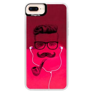 Neonové pouzdro Pink iSaprio - Man With Headphones 01 - iPhone 8 Plus