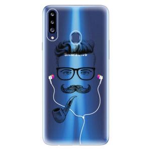 Odolné silikonové pouzdro iSaprio - Man With Headphones 01 - Samsung Galaxy A20s