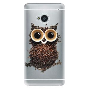 Plastové pouzdro iSaprio - Owl And Coffee - HTC One M7