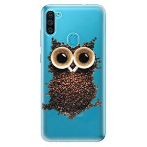 Odolné silikonové pouzdro iSaprio - Owl And Coffee - Samsung Galaxy M11