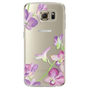 Plastové pouzdro iSaprio - Purple Orchid - Samsung Galaxy S6 Edge Plus