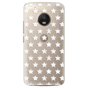 Plastové pouzdro iSaprio - Stars Pattern - white - Lenovo Moto G5 Plus