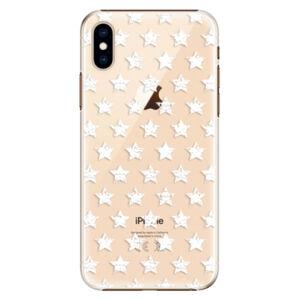 Plastové pouzdro iSaprio - Stars Pattern - white - iPhone XS