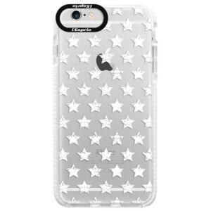 Silikonové pouzdro Bumper iSaprio - Stars Pattern - white - iPhone 6/6S