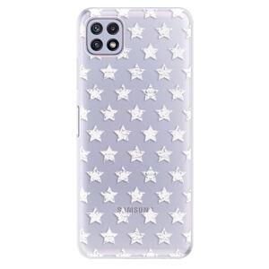 Odolné silikonové pouzdro iSaprio - Stars Pattern - white - Samsung Galaxy A22 5G