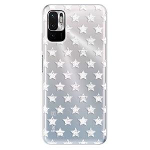 Odolné silikonové pouzdro iSaprio - Stars Pattern - white - Xiaomi Redmi Note 10 5G