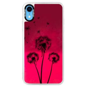 Neonové pouzdro Pink iSaprio - Three Dandelions - black - iPhone XR