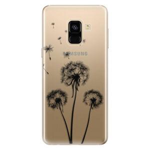 Odolné silikonové pouzdro iSaprio - Three Dandelions - black - Samsung Galaxy A8 2018