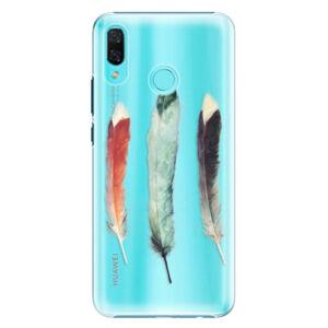 Plastové pouzdro iSaprio - Three Feathers - Huawei Nova 3