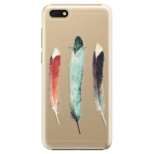 Plastové pouzdro iSaprio - Three Feathers - Huawei Honor 7S