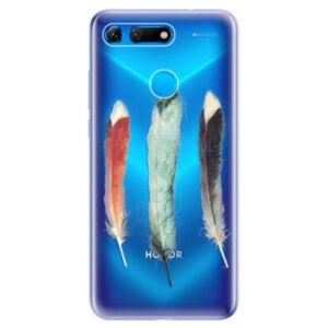 Odolné silikonové pouzdro iSaprio - Three Feathers - Huawei Honor View 20