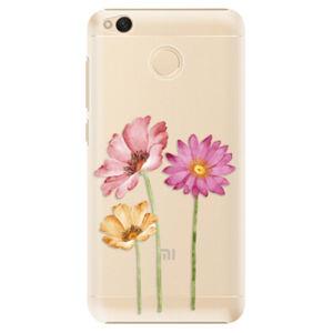 Plastové pouzdro iSaprio - Three Flowers - Xiaomi Redmi 4X