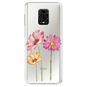 Plastové pouzdro iSaprio - Three Flowers - Xiaomi Redmi Note 9 Pro / Note 9S