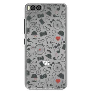 Plastové pouzdro iSaprio - Vintage Pattern 01 - black - Xiaomi Mi6