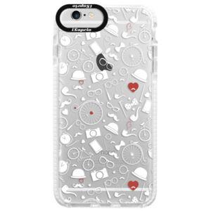 Silikonové pouzdro Bumper iSaprio - Vintage Pattern 01 - white - iPhone 6/6S