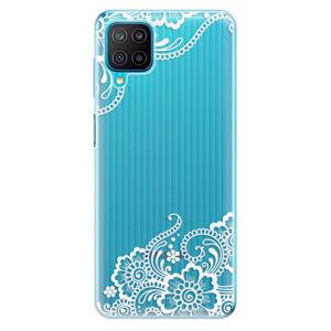 Odolné silikonové pouzdro iSaprio - White Lace 02 - Samsung Galaxy M12