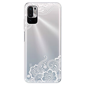 Odolné silikonové pouzdro iSaprio - White Lace 02 - Xiaomi Redmi Note 10 5G
