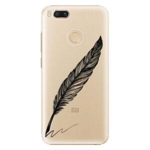 Plastové pouzdro iSaprio - Writing By Feather - black - Xiaomi Mi A1