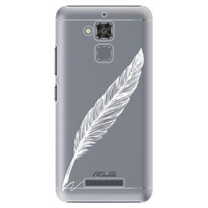 Plastové pouzdro iSaprio - Writing By Feather - white - Asus ZenFone 3 Max ZC520TL