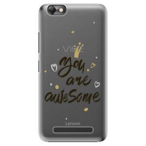 Plastové pouzdro iSaprio - You Are Awesome - black - Lenovo Vibe C
