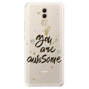 Silikonové pouzdro iSaprio - You Are Awesome - black - Huawei Mate 20 Lite