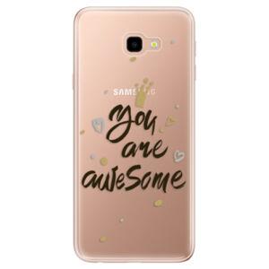 Odolné silikonové pouzdro iSaprio - You Are Awesome - black - Samsung Galaxy J4+
