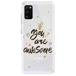 Plastové pouzdro iSaprio - You Are Awesome - black - Samsung Galaxy A41