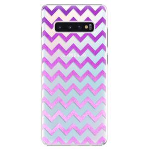 Plastové pouzdro iSaprio - Zigzag - purple - Samsung Galaxy S10+