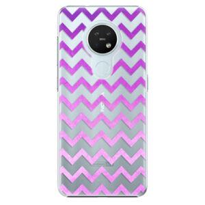 Plastové pouzdro iSaprio - Zigzag - purple - Nokia 7.2