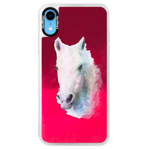 Neonové pouzdro Pink iSaprio - Horse 01 - iPhone XR