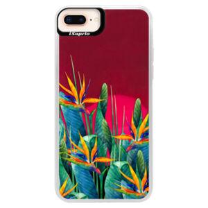 Neonové pouzdro Pink iSaprio - Exotic Flowers - iPhone 8 Plus