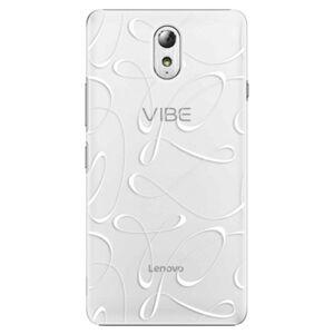 Plastové pouzdro iSaprio - Fancy - white - Lenovo P1m